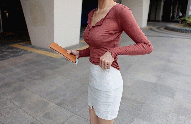 Long Sleeve T Shirt V-300